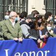 La princesse Leonor d'Espagne reçoit un accueil chaleureux à son arrivée au 30ème anniversaire de l'institut Cervantes à Madrid le 24 mars 2021. © Jack Abuin/ZUMA Wire / Bestimage
