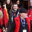 """Jean-Luc Reichmann - Photocall de la série """"Léo Matteï, Brigade des mineurs"""", 22e Festival des créations télévisuelles de Luchon. Le 7 février 2020. © Patrick Bernard/Bestimage"""