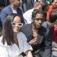 """Rihanna et ASAP Rocky - People au défilé de mode Homme printemps-été 2019 """"Louis Vuitton"""" à Paris. Le 21 juin 2018 © Olivier Borde / Bestimage"""
