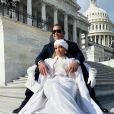 Jennifer Lopez et Alex Rodriguez à Washington, le 20 janvier 2021.