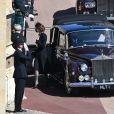 Catherine Kate Middleton, la duchesse de Cambridge - Arrivées aux funérailles du prince Philip, duc d'Edimbourg à la chapelle Saint-Georges du château de Windsor, le 17 avril 2021.