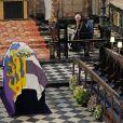 L'archevêque de Canterbury et primat de la Communion anglicane Justin Welby, La reine Elisabeth II d'Angleterre et Le prince Andrew, duc d'York, - Funérailles du prince Philip, duc d'Edimbourg à la chapelle Saint-Georges du château de Windsor, Royaume Uni, le 17 avril 2021.
