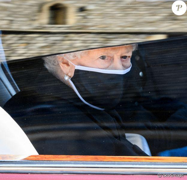 La reine Elisabeth II d'Angleterre - Arrivées aux funérailles du prince Philip, duc d'Edimbourg à la chapelle Saint-Georges du château de Windsor.