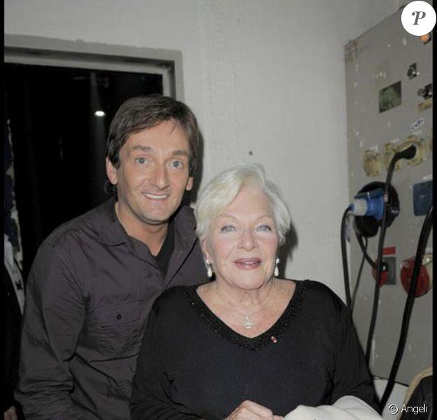 Pierre Palmade et Line Renaud lors du one-man-show d'Alex Lutz le 31 octobre 2009 au Bataclan