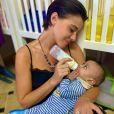 Barbara Opsomer avec Ali, l'enfant qu'elle souhaite adopter depuis plus d'un an. Instagram.
