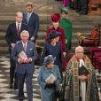 Le prince William, duc de Cambridge, et Catherine (Kate) Middleton, duchesse de Cambridge, Le prince Charles, prince de Galles, et Camilla Parker Bowles, duchesse de Cornouailles, La reine Elisabeth II d'Angleterre, Le prince Harry, duc de Sussex, Meghan Markle, duchesse de Sussex - La famille royale d'Angleterre lors de la cérémonie du Commonwealth en l'abbaye de Westminster à Londres le 9 mars 2020