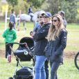 Exclusive - Zara Tindall aux Cirencester Park International Horse Trials avec son fils Lucas, le 2 mai 2021.