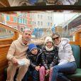 Leandro Paredes, son épouse Camila Galante et leurs deux enfants. Février 2021.