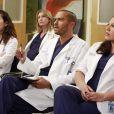 Sandra Oh, Ellen Pompeo, Jesse Williams et Sara Ramirez dans la saison 9 de Grey's Anatomy.