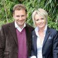 Pierre Sled et Sophie Davant au tournoi de Roland Garros