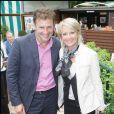 Pierre Sled et Sophie Davant à Roland Garros 2008, le 29 mai