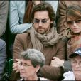 Frédéric Diefenthal et Gwendoline Hamon à Roland Garros en 2005.