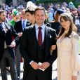 Patrick J. Adams et Troian Bellisario lors du mariage de Meghan Markle et du prince Harry au Château de Windsor. Le 19 mai 2018.