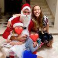 Novak Djokovic, son épouse Jelena Djokovic et leurs deux enfants Stefan et Tara. Décembre 2020.