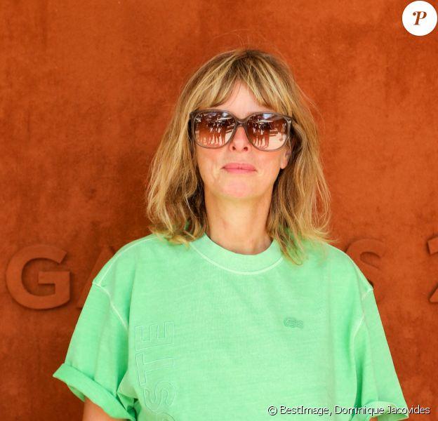 Karin Viard au village des Internationaux de France de tennis de Roland Garros à Paris. © Dominique Jacovides/Bestimage