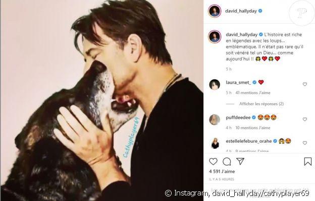 David Hallyday a partagé cette photo sur Instagram pour les 78 ans de son père Johnny.