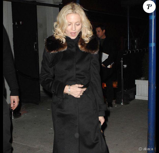 Madonna à l'anniversaire d'Ashton Kutcher