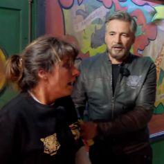 """Laetitia Milot complètement effrayée lors d'une épreuve de l'émission """"Fort Boyard"""" (France 2). L'actrice a surmonté ses peurs et réussi à obtenir un indice précieux à son équipe."""