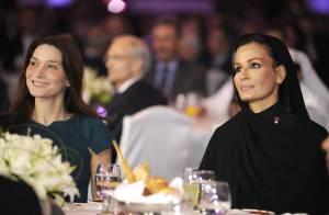 Carla Bruni seule et resplendissante face à une autre reine d'élégance... Unies dans un même combat !