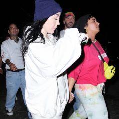 Demi Lovato et Noah Cyrus à la première de Space Jam au Six Flags Magic Mountain à Valencia, Los Angeles, Californie, Etats-Unis, le 29 juin 2021.