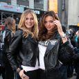 Heidi Klum et Miranda Kerr, deux anges à Manhattan le 18/11/09 pour Victoria's Secret