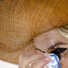 La reine Maxima des Pays-Bas assiste à un événement sur la photonique à l'université technique de Berlin, le 7 juillet 2021.