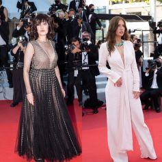 Isabelle Adjani et Adèle Exarchopoulos décolletées à la 74e édition du Festival de Cannes.