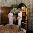Les princesses Mathilde et Lalla lors de leur rencontre à Rabat le 24/11/09