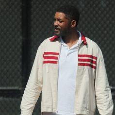 Will Smith sur le tournage de King Richard (Richard William) à Los Angeles pendant l'épidémie de coronavirus (Covid-19), le 19 octobre 2020.