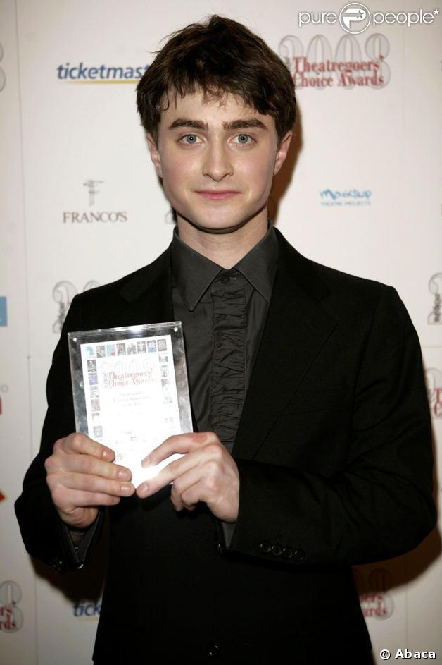 Daniel Radcliffe aux What's on stage Awards