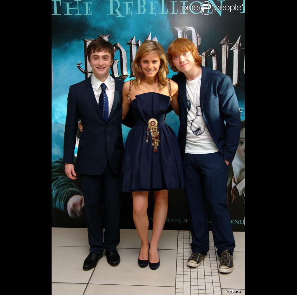 Daniel radcliffe emma watson hermione granger et - Harry potter hermione granger ron weasley ...