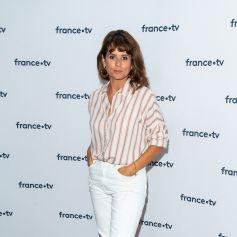 Faustine Bollaert lors du photocall dans le cadre de la conférence de presse de France Télévisions au Pavillon Gabriel à Paris, France, le 24 août 2021. © Pierre Perusseau/Bestimage
