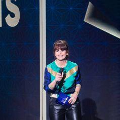 """Exclusif - Faustine Bollaert - Enregistrement de l'émission """"La boîte à Secrets 9"""" à Paris, diffusée le 9 septembre sur France 3. © Tiziano Da Silva / Bestimage"""