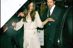 Brad Pitt et Angelina Jolie toujours amoureux et glamour... même sous la pluie !