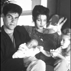 Lisa-Marie Presley, Danny Keough, Benjamin Keough et Riley Keough.