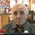 Charles Aznavour en interview pour Itélé le 14 décembre