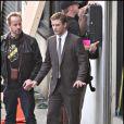 Justin Timberlake sur le tournage de la publicité Audi avec Dania Ramirez le 15 décembre 2009