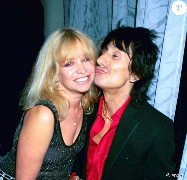 Ronnie Wood et son ex-femme Jo, en 1990.