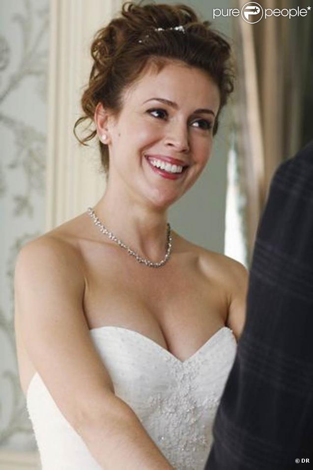 Alyssa Milano dans l'épisode 12 de la saison 2 de la série  Castle , qui sera diffusé début 2010 sur ABC.