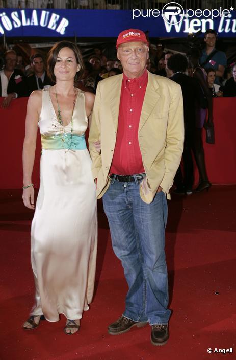 Niki Lauda et sa femme Birgit