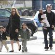 Brad, Angie et les enfants en 2008