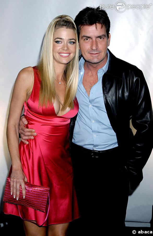 Charlie Sheen et son ex Denise Richards