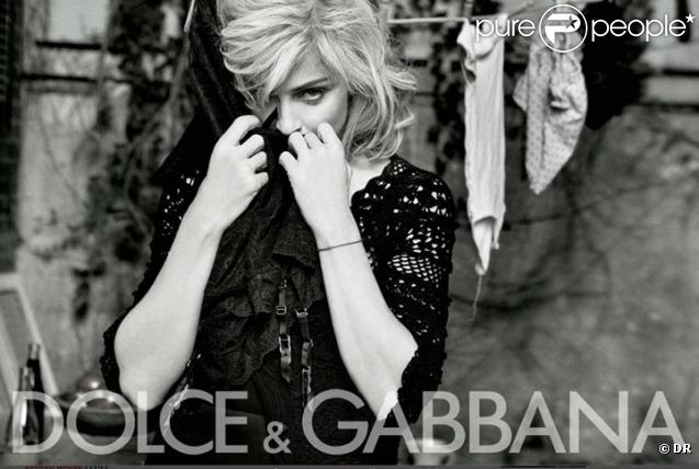 Madonna pour Dolce & Gabbana