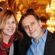 Charles Berling et sa compagne Virginie le 15 janvier aux Prix des Lumières