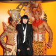 Chantal Thomass lors du spectacle du Roi Lion au théâtre Mogador le 20 janvier 2010