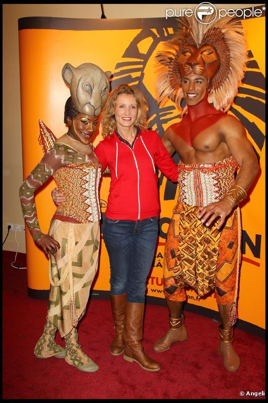Alexandra Lamy lors du spectacle du Roi Lion au théâtre Mogador le 20 janvier 2010