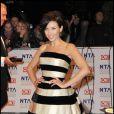 Dannii Minogue et son amoureux Kris  lors des trophées britanniques de la télévision le 20 janvier à Londres