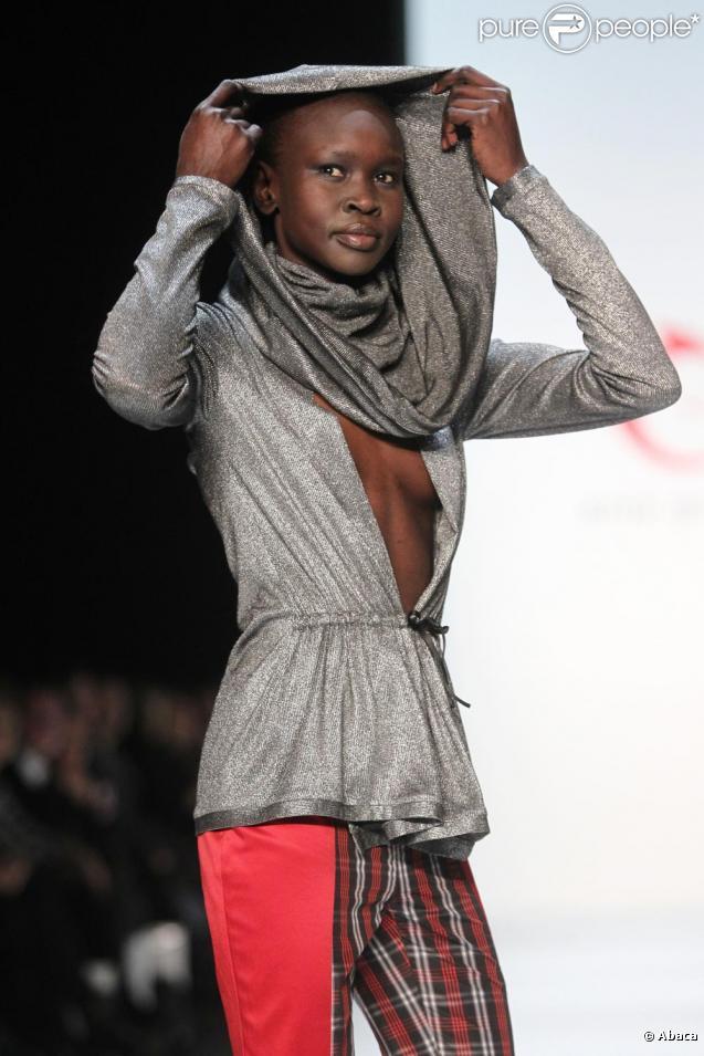 Alek Wek lors de la fashion week berlinoise le 21 janvier 2010