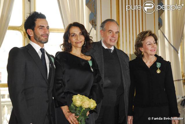 Remise de décorations de Nathalie Rykiel et Marc Jacobs par Frédéric Mitterrand, le 22 janvier 2010.