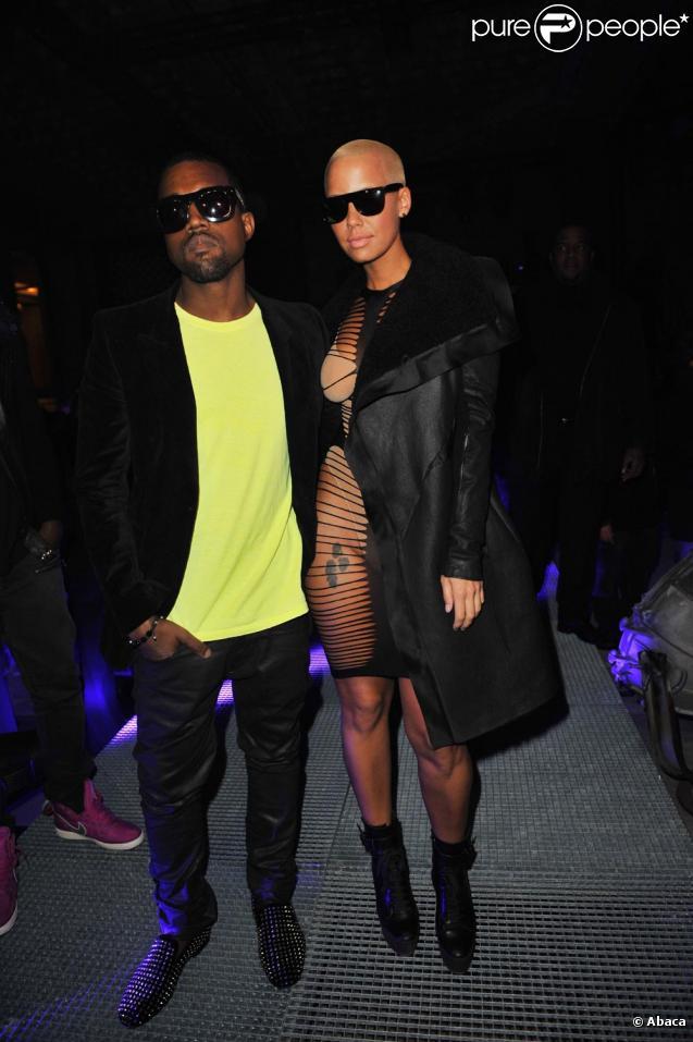 Kanye West et Amber Rose au défilé John Galliano